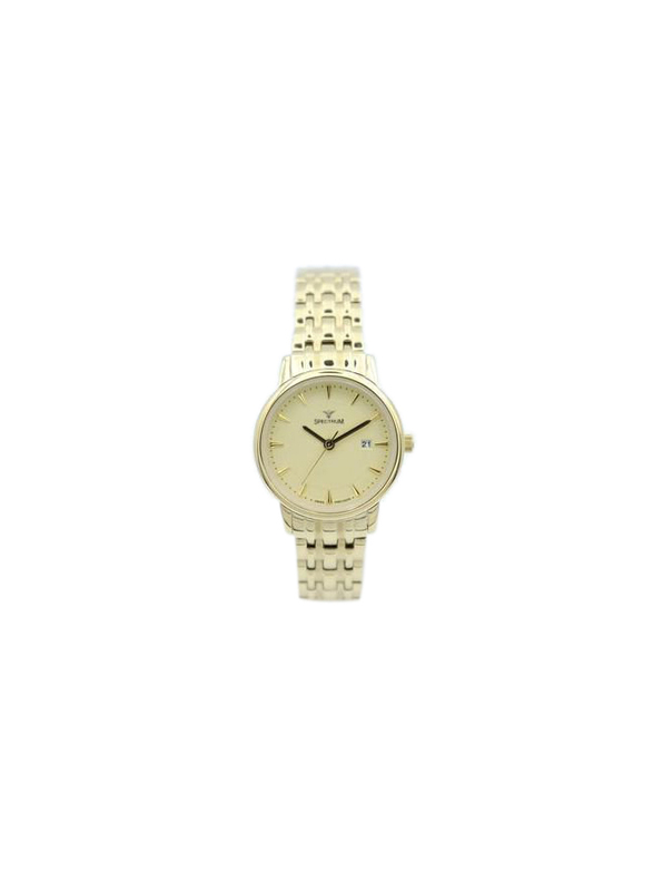 Spectrum Challenger Analog Watch for Women, with Stainless Steel Band, 12580L, Gold