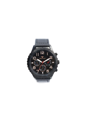 Spectrum Truth Seeker Analog Watch for Men, with Leather Band and Chronograph, S25153G, Black