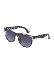 Daniel Klein Polarized Wayfarer Full-Rim Animal Print Frame Sunglasses for Men, Mauve Lens, DK3169C, 54/13/135