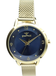Spectrum Truth Seeker Analog Watch for Women, with Mesh Band, S25176L-2, Gold-Blue