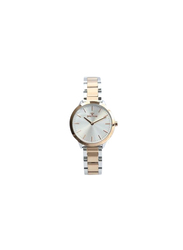 Spectrum Explorer Analog Watch for Women, with Stainless Steel Band, 25170L, Silver/Rose Gold-Silver