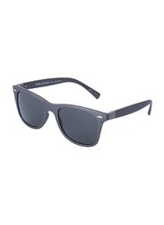 Daniel Klein Polarized Wayfarer Full-Rim Grey Frame Sunglasses for Men, Grey Lens, DK3030C, 50/12/140