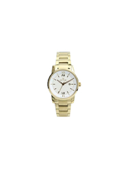 Spectrum Inventor Analog Watch for Women, with Stainless Steel Band, 12547L, Gold-White