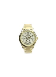 Spectrum Multidimensional Analog Watch for Men, with Stainless Steel Band and Chronograph, S25128G, Gold