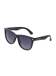 Daniel Klein Polarized Wayfarer Full-Rim Black Frame Sunglasses for Men, Anthracite Lens, DK3169C, 54/13/135
