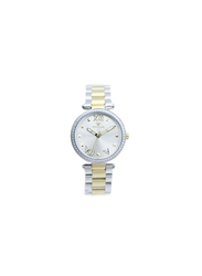 Spectrum Challenger Analog Watch for Women, with Stainless Steel Band, S25171L, Silver/Gold-Silver