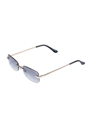 Daniel Klein Rectangular Rimless Gold Frame Sunglasses Women, Grey Lens, DK4271PC, 55/17/140