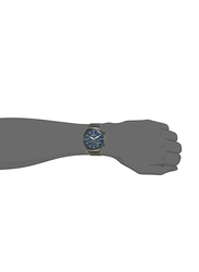 Daniel Klein Analog Watch for Men, with Stainless Steel Band, Water Resistant and Chronograph, DK12127-5, Black-Blue