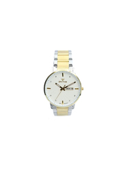 Spectrum Inventor Analog Watch for Men, with Stainless Steel Band, 12537M, Silver/Gold-White