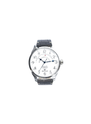 Spectrum Truth Seeker Analog Watch for Men, with Leather Band and Chronograph, S23037M, Black-White/Silver