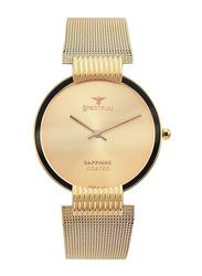 Spectrum Creative Analog Watch for Men, with Mesh Band, S15036M-3, Rose Gold