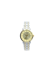 Spectrum Inventor Analog Watch for Women, with Stainless Steel Band, 25140L, Silver/Gold-Gold