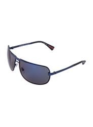 Daniel Klein Polarized Rectangular Full-Rim Blue Frame Sunglasses for Men, Blue Lens, DK3076C, 68/13/120