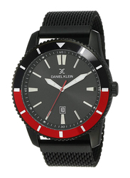 Daniel Klein Analog Watch for Men, with Stainless Steel Band and Water Resistant, DK12159-5, Black