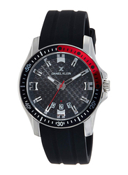 Daniel Klein Analog Watch for Men, with Leather Band and Water Resistant, DK11935-1, Black
