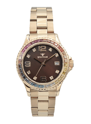 Spectrum Analog Watch for Women, with Stainless Steel Band, S25183L-5, Rose Gold-Brown
