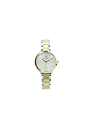 Spectrum Explorer Analog Watch for Women, with Stainless Steel Band, 25170L, Silver/Gold-Silver