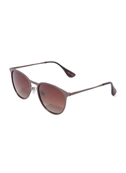 Daniel Klein Polarized Aviator Full-Rim Brown Frame Sunglasses for Men, Brown Lens, DK3174C, 53/15/130