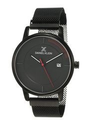 Daniel Klein Analog Watch for Men, with Stainless Steel Band and Water Resistant, DK12105-4, Black