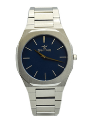 Spectrum Analog Watch for Men, with Stainless Steel Band, S25182M-5, Silver-Blue
