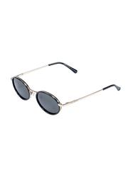 Daniel Klein Polarized Round Full Rim Rose Gold Frame Sunglasses Unisex, Black Lens, DK4266C, 50/18/140