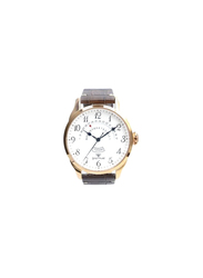 Spectrum Truth Seeker Analog Watch for Men, with Leather Band and Chronograph, S23037M, Brown-White