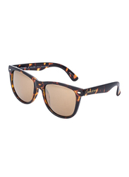 Daniel Klein Polarized Wayfarer Full-Rim Animal Print Frame Sunglasses for Men, Brown Lens, DK3169C, 54/13/135