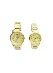 Spectrum Inventor Analog Unisex Couple Watches, with Stainless Steel Band, 12547L, Gold