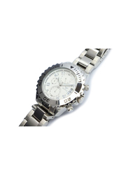 Spectrum Explorer Analog Watch for Men, with Stainless Steel Band and Chronograph, S92988M, Silver-White/Silver