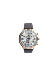 Spectrum Challenger Analog Watch for Men, with Leather Band and Chronograph, S23043M, Dark Brown-Silver
