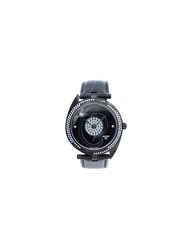 Spectrum Creative Analog Watch for Women, with Leather Band, 27013L, Black