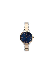 Spectrum Explorer Analog Watch for Women, with Stainless Steel Band, 25170L, Silver/Rose Gold-Blue