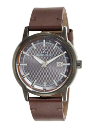 Daniel Klein Analog Watch for Men, with Leather Band and Water Resistant, DK11841, Brown-Grey