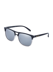 Daniel Klein Polarized Clubmaster Full-Rim Black Frame Sunglasses for Men, Grey Lens, DK3188C, 54/15/140