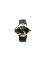 Spectrum Creative Analog Watch for Women, with Leather Band, 27016L, Black
