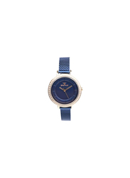 Spectrum Challenger Analog Watch for Women, with Mesh Band, S25178L, Blue
