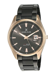 Daniel Klein Analog Watch for Men, with Stainless Steel Band and Water Resistant, DK12109-6, Black