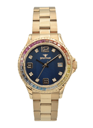 Spectrum Analog Watch for Women, with Stainless Steel Band, S25183L-6, Rose Gold-Blue