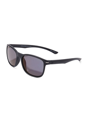 Daniel Klein Polarized Wayfarer Full-Rim Black Frame Sunglasses for Men, Mauve Lens, DK3170C, 53/18/135