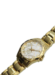 Spectrum Creative Analog Watch for Women, with Stainless Steel Band, S12554L-1, Gold-White