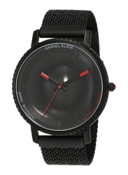 Daniel Klein Analog Watch for Men, with Stainless Steel Band and Water Resistant, DK12124-6, Black