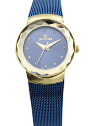Spectrum Creative Analog Watch for Women, with Mesh Band, S12577L-2, Blue
