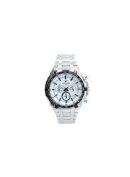 Spectrum Explorer Analog Watch for Men, with Stainless Steel Band and Chronograph, S82439M-1, Silver-White