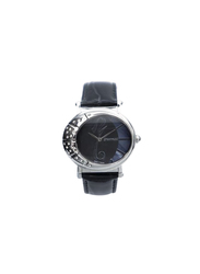 Spectrum Challenger Analog Watch for Women, with Leather Band, 27017L, Black-Black/Silver
