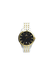 Spectrum Creative Analog Watch for Men, with Stainless Steel Band, 12517M, Silver/Gold-Black