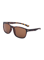 Daniel Klein Polarized Wayfarer Full-Rim Animal Print Frame Sunglasses for Men, Brown Lens, DK3170C, 53/18/135