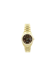 Spectrum Multi-Dimensional Analog Watch for Women, with Stainless Steel Band, S25165L, Gold-Brown