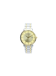 Spectrum Inventor Analog Watch for Men, with Stainless Steel Band, 25140M-2, Silver/Gold-Gold