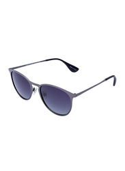 Daniel Klein Polarized Aviator Full-Rim Grey Frame Sunglasses for Men, Anthracite Lens, DK3174C, 53/15/130