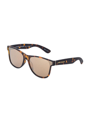 Daniel Klein Polarized Wayfarer Full-Rim Animal Print Frame Sunglasses for Men, Brown Lens, DK3167C, 50/16/140